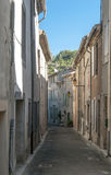 Straße in Lagrasse Stockfotografie