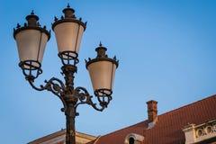 Straße lampost Straßenbeleuchtungsansammlung Lizenzfreies Stockbild
