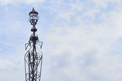 Straße lampost Straßenbeleuchtungsansammlung Stockbild