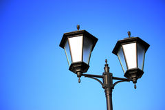 Straße lampost Straßenbeleuchtungsansammlung Lizenzfreie Stockbilder