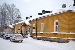 Straße in Lappeenranta, Finnland Stockbild