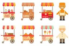 Straße-Lebensmittel-Markt-Speicher-Auto Stockfotos