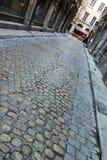 Straße in Lyon, Frankreich Lizenzfreies Stockbild
