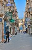 Straße in Malta Stockbild