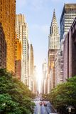 42. Straße, Manhattan sah von Tudor City an lizenzfreies stockbild