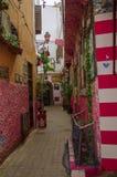 Straße, Marokko, Blau, Medina, Casablanca stockbild