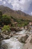 Straße, Marokko, Blau, Wasserfall, Dorf stockfotos