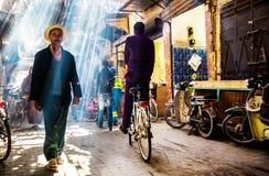 Straße in Marrakesch Lizenzfreie Stockbilder