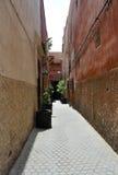 Straße in Medina von Marrakesch Stockfoto
