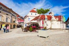 Straße in Melk, Österreich Lizenzfreie Stockfotos