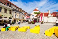 Straße in Melk, Österreich Lizenzfreie Stockbilder