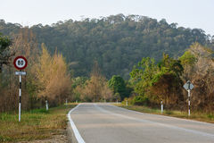 Straße in Mersing Stockfotos