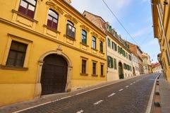 Straße Mesnicka in der Stadt Zagreb Lizenzfreies Stockfoto