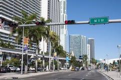 Straße in Miami im Stadtzentrum gelegen Lizenzfreies Stockfoto
