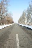 Straße mit einer Markierung Stockfotografie