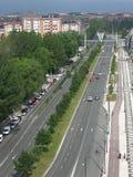 Straße mit Verkehr Lizenzfreies Stockfoto