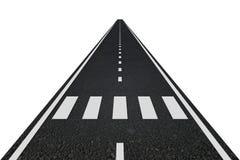 Straße mit Zebrastreifen Lizenzfreie Stockfotografie