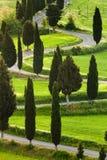 Straße, Montepulciano, Toskana, Italien lizenzfreie stockbilder