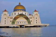 Straße-Moschee, Melaka stockfotografie