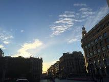 Straße Moskaus Varvarka Lizenzfreie Stockfotos