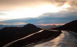 Straße Mt Evans Stockbild