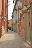 Straße in Murano Lizenzfreie Stockfotos