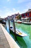 Straße in Murano, Italien Lizenzfreie Stockbilder