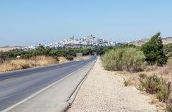 Straße nach Arcos de la Frontera Stockfoto
