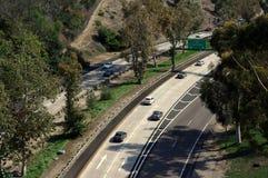 Straße nach im Stadtzentrum gelegenes San Diego Lizenzfreies Stockfoto