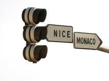 Straße nach Monaco Stockfotos
