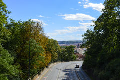 Straße nach Prag Lizenzfreie Stockbilder