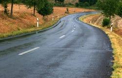 Straße nach Regen Lizenzfreie Stockfotos