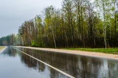 Straße nach Regen Lizenzfreie Stockbilder