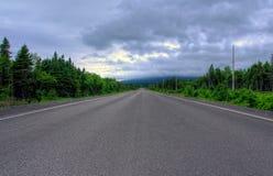 Straße nach St Anthony, Kanada Stockbilder