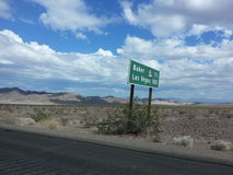Straße nach Vegas Stockbild