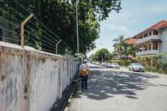 Straße am Nachmittag von George Town Penang, Malaysia Lizenzfreie Stockfotografie