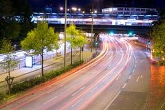 Straße nachts Stockbild