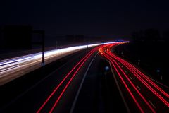 Straße nachts Lizenzfreie Stockfotografie