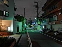 Straße nachts lizenzfreie stockbilder