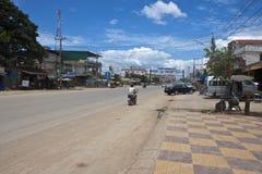 Straße nahe der Kambodscha-Thailand-Grenze Stockfotografie