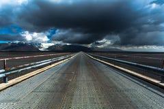 Straße nahe Skaftafell Stockfoto