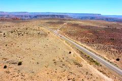 Straße in Nationalpark Grand Canyon s auf die Oberseite Lizenzfreie Stockbilder