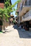 Straße in Nesebar Stockbilder