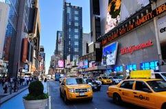 Straße New- York Citymanhattan 42. Stockfotografie