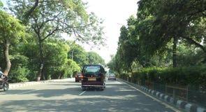 Straße in NOIDA Stockbilder