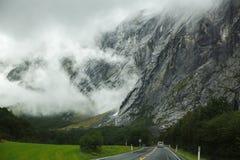 Straße in Norwegen Stockbilder
