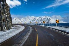 Straße in Norwegen stockbild