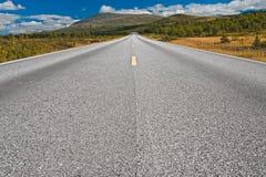 Straße in Norwegen Lizenzfreie Stockfotos