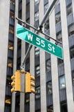 55. Straße, NY Stockfotografie