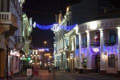 Straße Olha Kobylyahska, Chernivtsi, 2011 lizenzfreies stockfoto